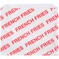 Carnival King 5 1/2 inch x 4 1/2 inch Large Printed French Fry Bag - 500 / Pack