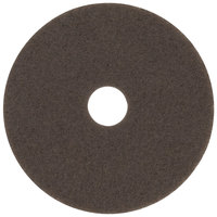 3M 7100 13 inch Brown Stripping Floor Pad - 5/Case
