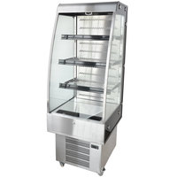 27 inch Stainless Steel Vertical Air Curtain Merchandiser - 8.9 Cu. Ft.