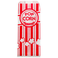"Carnival King 3 1/2"" x 2 1/4"" x 8 1/4"" 1 oz. Popcorn Bag   - 1000/Case"