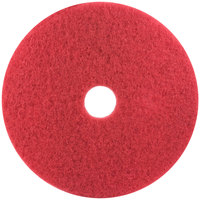 3M 5100 17 inch Red Buffing Pad - 5/Case