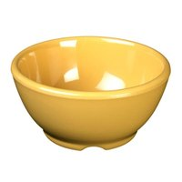 Yellow 10 oz. Melamine Soup Bowl, 4 5/8 inch - 12 / Pack