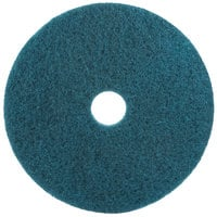 3M 5300 22 inch Blue Cleaning Pad - 5/Case