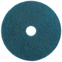 3M 5300 22 inch Blue Cleaning Floor Pad - 5/Case