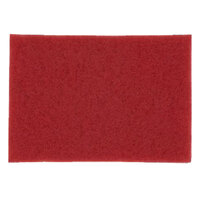 3M 5100 14 inch x 28 inch Red Buffing Pad - 10 / Case