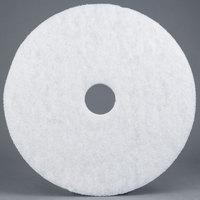 3M 4100 14 inch White Super Polishing Floor Pad   - 5/Case