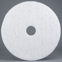 3M 4100 13 inch White Super Polishing Floor Pad - 5/Case