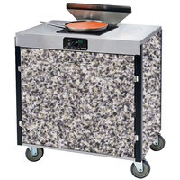 Lakeside 2065 Creation Express Mobile Cooking Cart with 1 Induction Burner, 1 Filtration Unit, and Gray Sand Laminate Finish - 22 inch x 34 inch x 40 1/2 inch