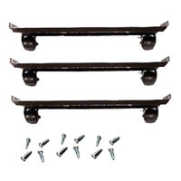 True 880202 2 1/2 inch Casters with Frames - 6 / Set