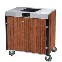 Lakeside 2060 Creation Express Mobile Cooking Cart with 1 Induction Burner, No Exhaust Filtration, and Victorian Cherry Laminate Finish - 22 inch x 34 inch x 35 1/2 inch