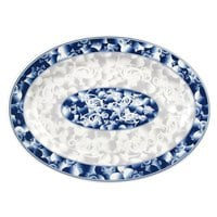 Blue Dragon 14 inch x 10 inch Oval Melamine Platter - 12 / Pack