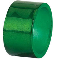 Tabletop Classics AC-6512FG Forest Green 1 3/4 inch Round Acrylic Napkin Ring