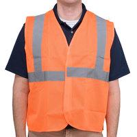 Orange Class 2 High Visibility Surveyor's Safety Vest with Hook & Loop Closure - XXXL