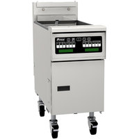 Pitco SG14TSC Natural Gas 20-25 lb. Split Pot Floor Fryer with Intellifry Computer Controls - 100,000 BTU