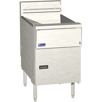 Pitco SG18SVS5 Natural Gas 70-90 lb. Floor Fryer with 5 inch Touch Screen Controls - 140,000 BTU