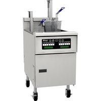 Pitco® SG18SC Natural Gas 70-90 lb. Floor Fryer with Intellifry Computer Controls - 140,000 BTU