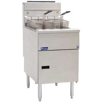 Pitco SG18SSSTC Liquid Propane 70-90 lb.Floor Fryer with Solid State Thermostatic Controls - 140,000 BTU