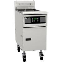 Pitco® SG14RSD Natural Gas 40-50 lb. Floor Fryer with Digital Controls - 122,000 BTU