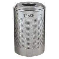 Rubbermaid FGDRR24TSS Silhouettes Stainless Steel Round Designer Recycling Receptacle - Trash 26 Gallon