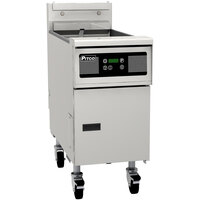 Pitco SG14TSD 20-25 lb. Split Pot Gas Floor Fryer with Digital Controls - 100,000 BTU