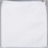 12 inch x 12 inch White Microfiber Cleaning Cloth - 12 / Pack