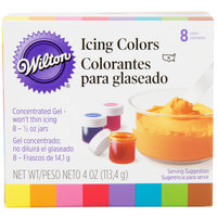 Wilton 601-5577 8-Pack of .5 oz. Gel Food Colors