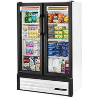 True GDM-36SL-LD Slim Line White Glass Swing Door Merchandiser Refrigerator with LED Lighting
