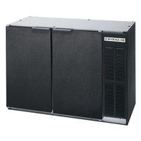 Beverage-Air BB48Y-1-B-PT 48 inch Black Solid Door Pass-Through Back Bar Refrigerator