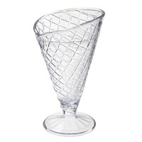 GET ICM-26-CL 8 oz. Clear Plastic Waffle Cone Cup - 24 / Case