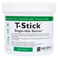 San Jamar TST9341 T-Stick Thermometer 140 Degrees Fahrenheit - 250/Pack