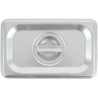Choice 1/9 Size Stainless Steel Solid Steam Table / Hotel Pan Cover