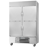Beverage-Air RB49-1HS 52 inch Vista Series Two Section Solid Half Door Reach-In Refrigerator - 49 cu. ft.