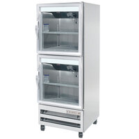 Beverage-Air RID18-HG 27 inch One Section Glass Half Door Pass-Through Refrigerator - 18 cu. ft.