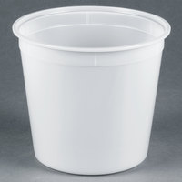 5.25 Qt. Translucent Round Deli Container - 100/Case