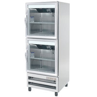 Beverage-Air RI18-HG-LED 27 inch One Section Glass Half Door Reach-In Refrigerator - 18 cu. ft.