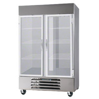 Beverage-Air FB49-1G 52 inch Vista Series Two Section Glass Door Reach-In Freezer - 49 cu. ft.