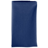 22 inch x 22 inch Royal Blue 100% Polyester Hemmed Cloth Napkin - 12/Pack