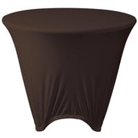 Marko EMB5026R48515 Embrace 48 inch Round Chocolate Spandex Table Cover