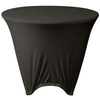 Marko EMB5026R48512 Embrace 48 inch Round Charcoal Spandex Table Cover