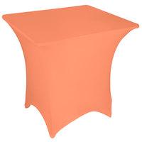 Marko EMB5026S3030030 Embrace 30 inch Square Peach Spandex Table Cover