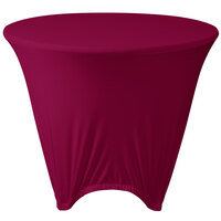 Marko EMB5026R36046 Embrace 36 inch Round Burgundy Spandex Table Cover