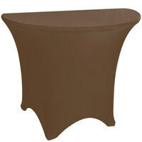 Marko EMB5026HR60515 Embrace 60 inch Half Round Chocolate Spandex Table Cover