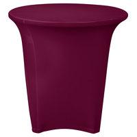 Snap Drape CC30R-BURGUNDY Contour Cover 30 inch Round Burgundy Spandex Table Cover