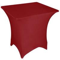 Marko EMB5026S4848046 Embrace 48 inch Square Burgundy Spandex Table Cover