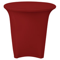 Marko EMB5026R24046 Embrace 24 inch Round Burgundy Spandex Table Cover