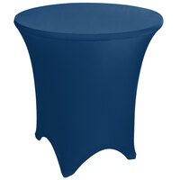 Marko EMB5026R54062 Embrace 54 inch Round Cadet Blue Spandex Table Cover