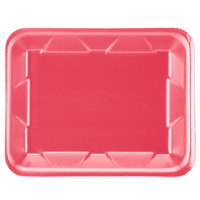 Genpak 1004D (#4D) Foam Meat Tray Rose 9 1/4 inch x 7 1/4 inch x 1 1/4 inch - 500/Case