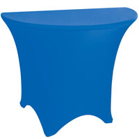 Marko EMB5026HR72062 Embrace 72 inch Half Round Cadet Blue Spandex Table Cover