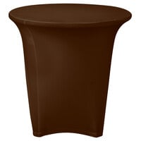 Marko EMB5026R24515 Embrace 24 inch Round Chocolate Spandex Table Cover