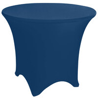 Marko EMB5026R66062 Embrace 66 inch Round Cadet Blue Spandex Table Cover